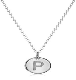 Cool And Interesting Necklace - Dainty Disc W/ Initial (Silver) (P)
