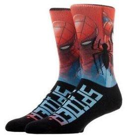 BioWorld Mens Socks - Marvel Spiderman  (Red, Blue)