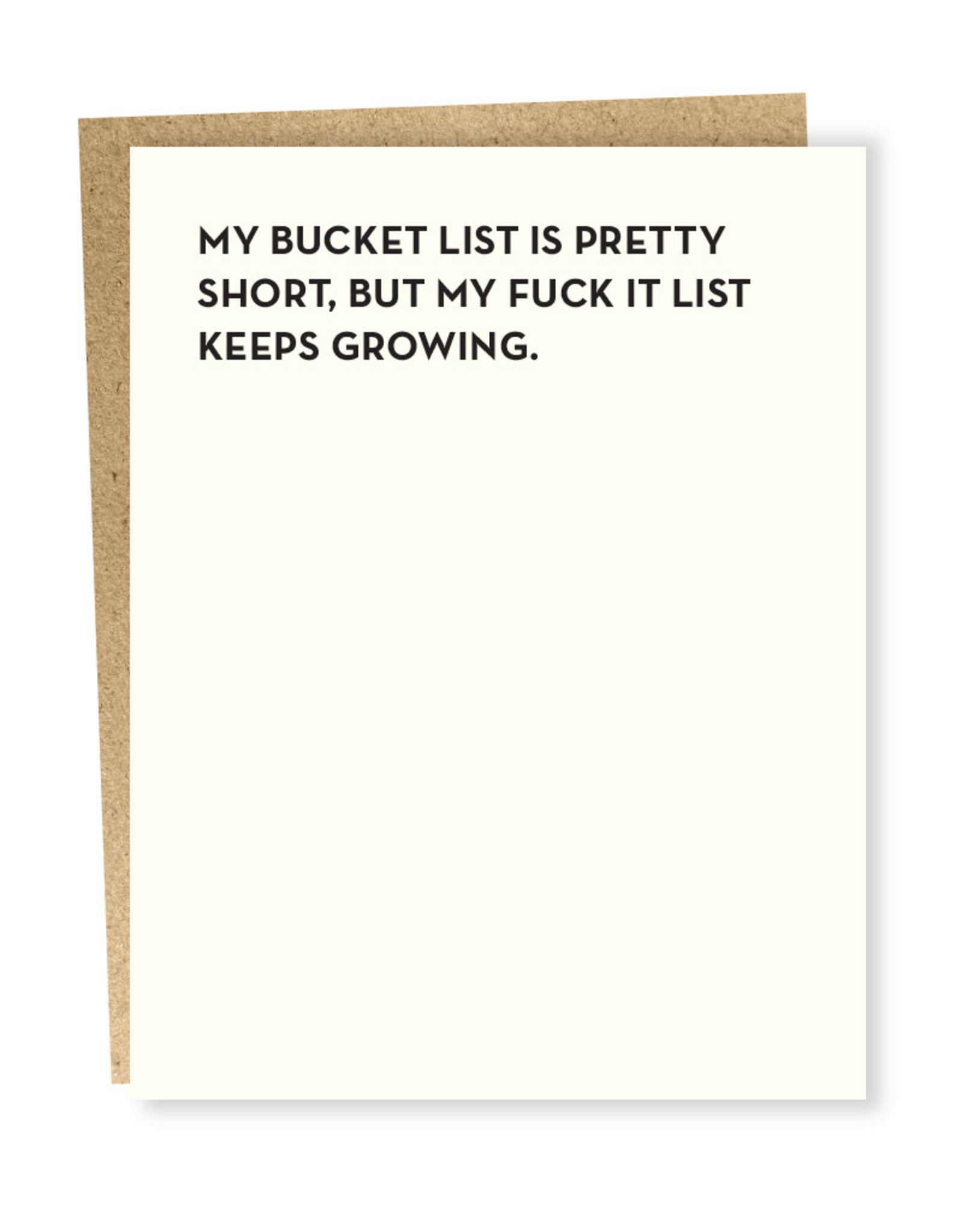 Card #105 - Moment Of Truth, Bucket List