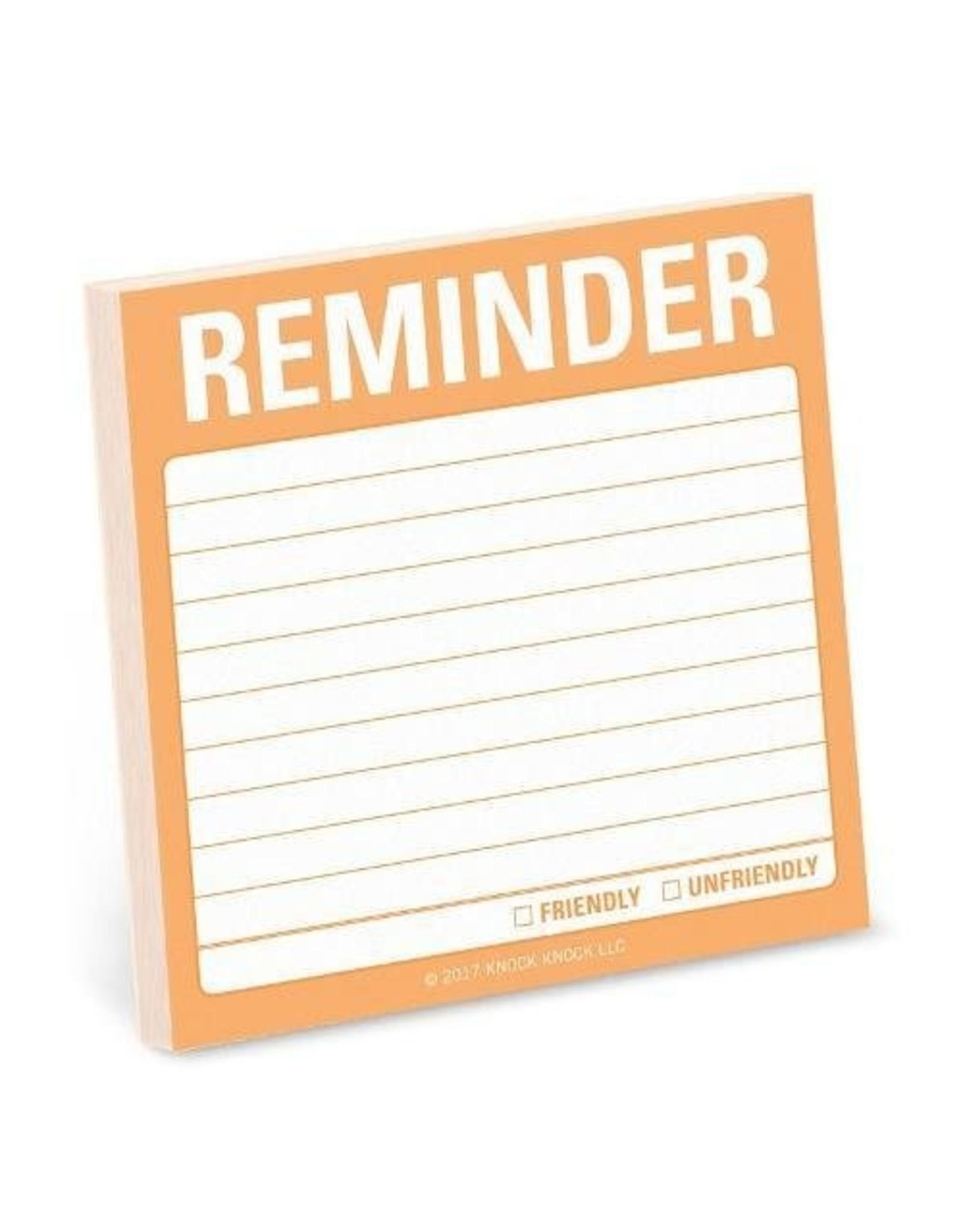 Sticky Note - Reminder