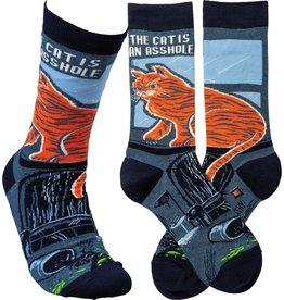 Socks (Unisex) - The Cat Is An Asshole