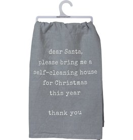 Tea Towel - Self Cleaning House For Christmas