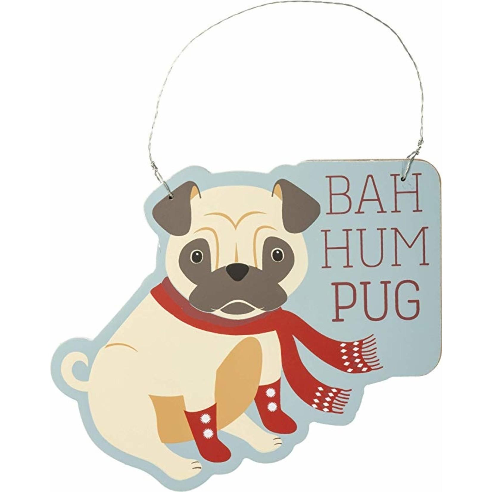 Ornament - Bah Hum Pug