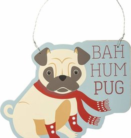Ornament - Bah Hum Pug