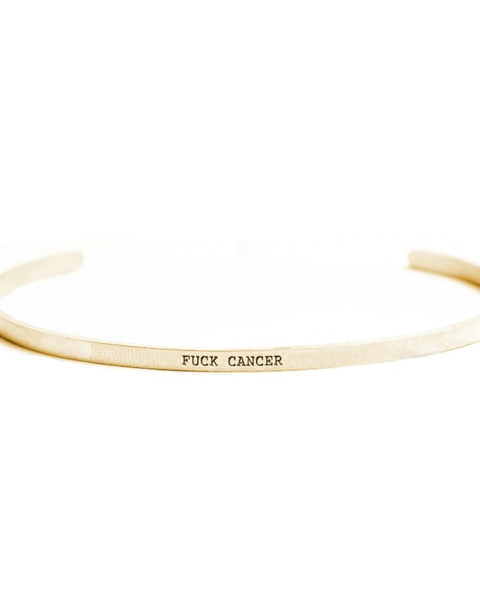 Bracelet - Fuck Cancer (14k Gold)