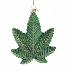 Kurt S. Adler Ornament - Cannabis Leaf