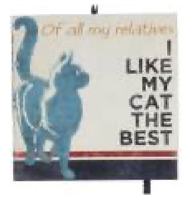 Kurt S. Adler Ornament - Cat (I Like My Cat The Best)