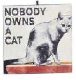 Kurt S. Adler Ornament - Cat (Nobody Owns A Cat)