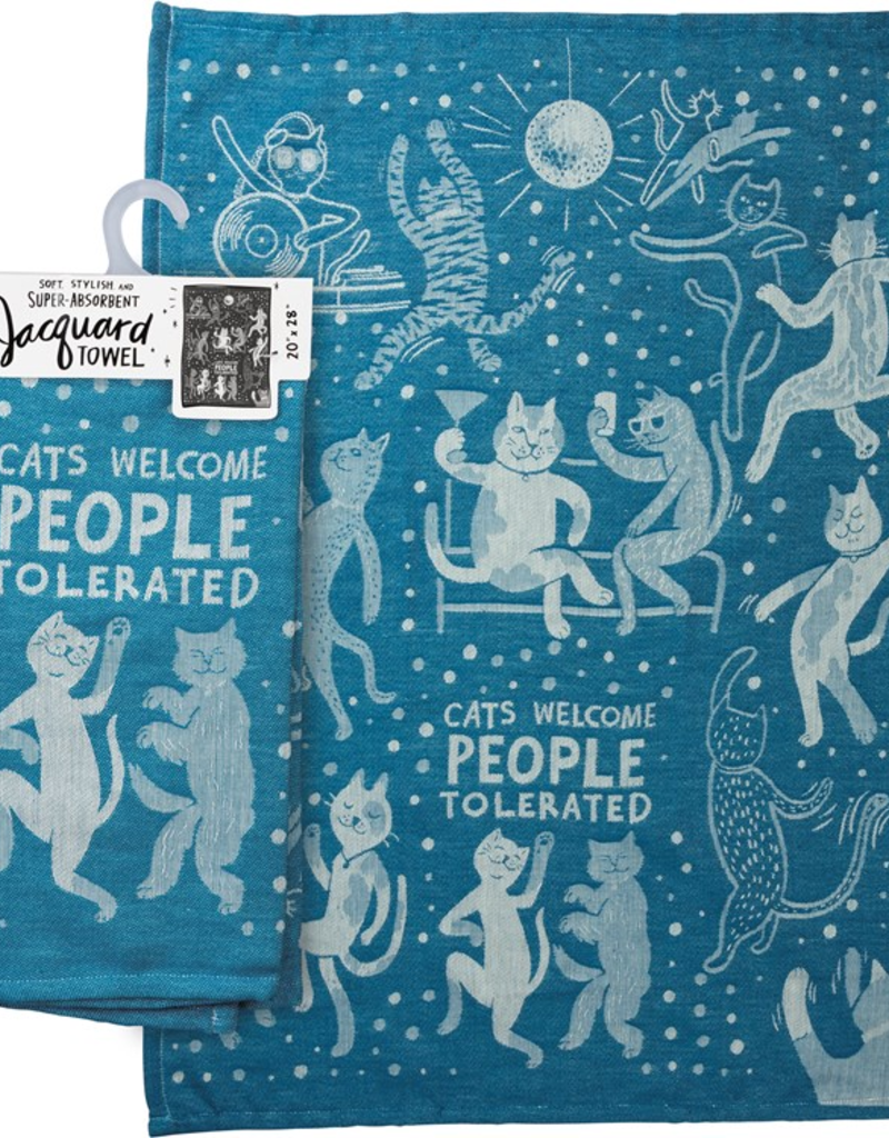 Tea Towel - Cats Welcome People Tolerated