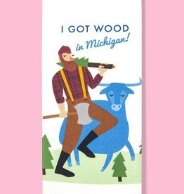 Dish Towel (Premium) - I Got Wood In Michigan
