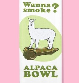 Tea Towel (Premium) - Wanna Smoke? Alpaca Bowl