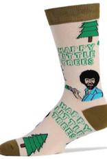 Mens Socks - Happy Little Trees (Bob Ross)