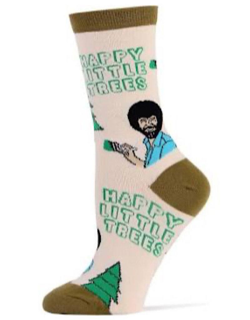 Womens Socks - Happy Little Trees (Bob Ross)