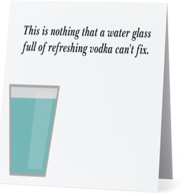 Annies Card #049 - Glass Of Refreshing Vodka