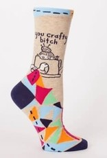 Womens Socks - You Crafty Bitch