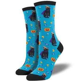 Socks (Womens) - Witch Cat