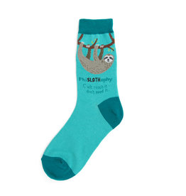 Socks (Womens) - PhiSLOTHophy (Sloth)