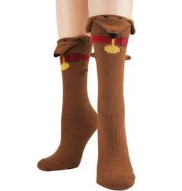 Socks (Womens) - 3D Dachshund
