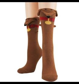 Socks (Womens) - 3D Dachshund