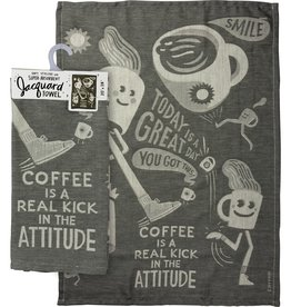 Dish Towel - Coffee Is A Real Kick In The Attitude