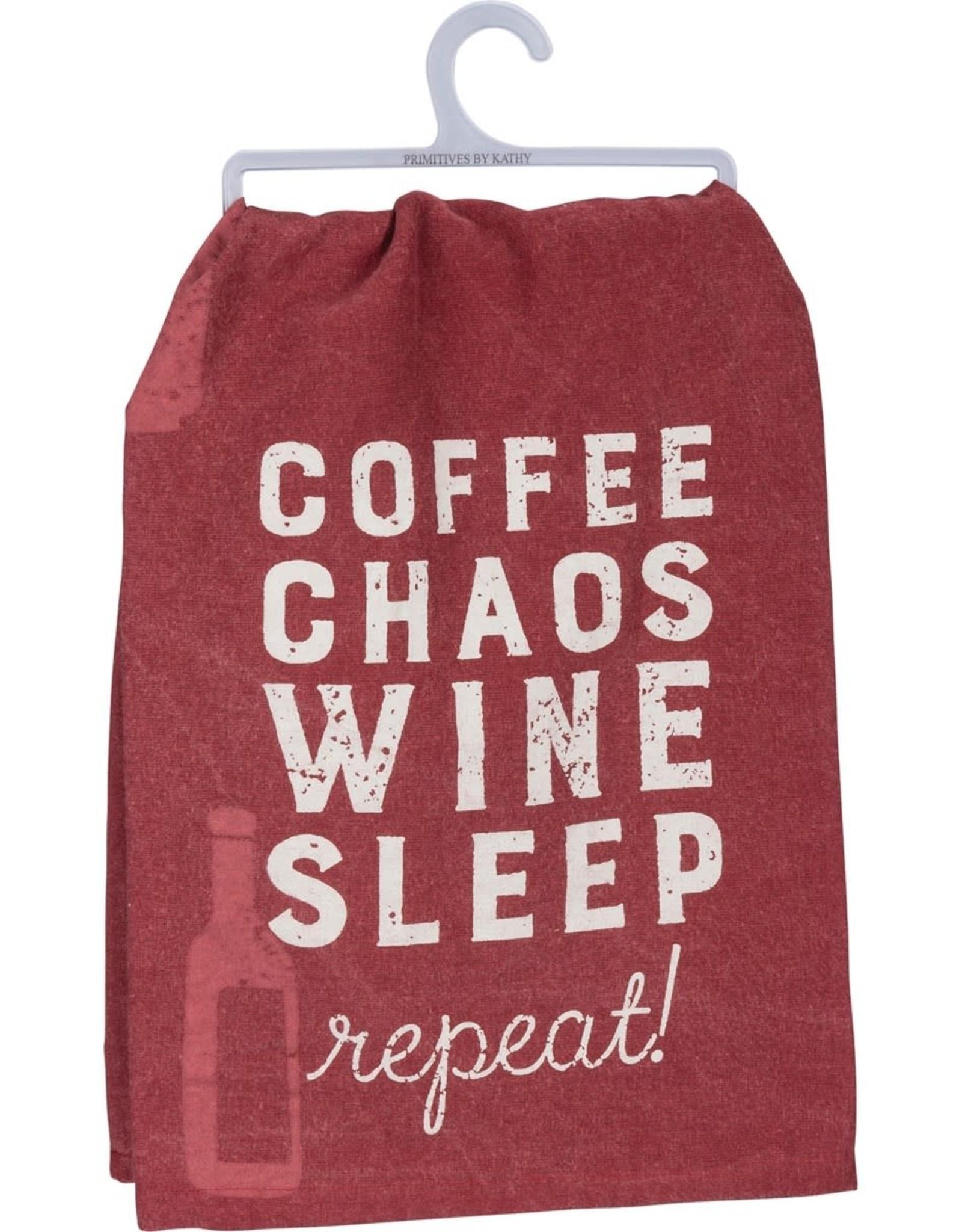 Dish Towel - Coffee Chaos Wine Sleep Repeat