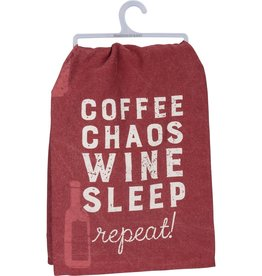 Dish Towel - Coffee Chaos Wine Sleep Repeat