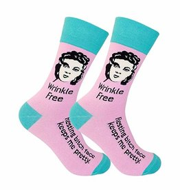 Socks (Unisex) - Wrinkle Free Resting Bitch Face Keeps Me Pretty