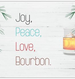 Card (Holiday) - Peace Joy And Bourbon