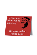 Card (Holiday)(10 Pack) - He Knows When Youre A Shit