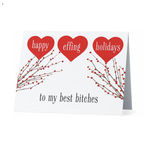 Bad Annie's Card (Holiday)(10 Pack) - Happy Effing Holidays To My Best Bitches
