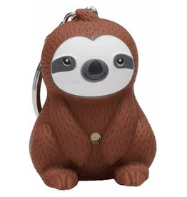 KeyChain (LED) - Sloth (Brown)