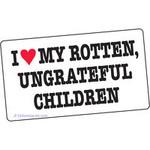 Sticker - I Heart My Rotten, Ungrateful Children