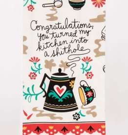 Tea Towel (Premium) - Congratulations, You Turned My Kitchen Into A Shithole