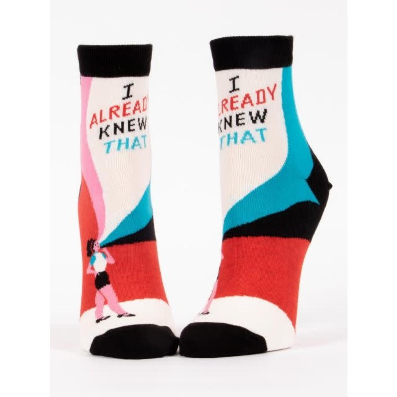 Socks (Womens) (Ankle) - I Already Knew That