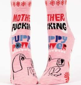 Socks (Womens) (Ankle) - Mother Fucking Puppy Power