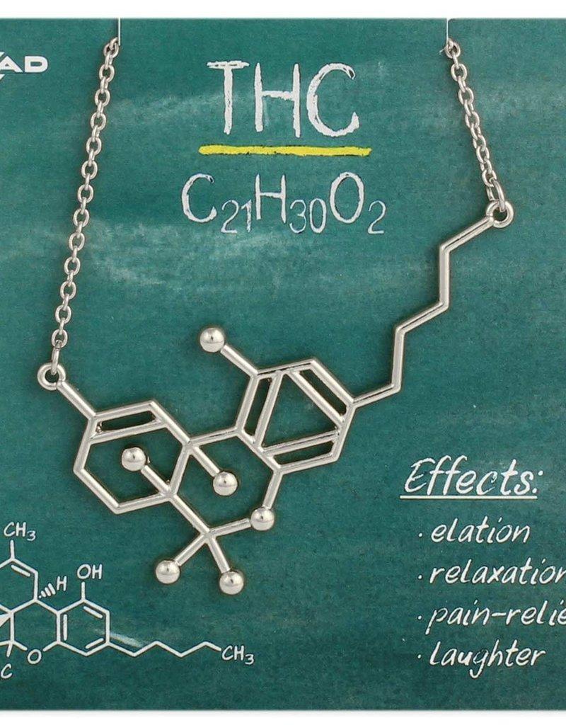 Necklace - Thc Molecule (Silver)