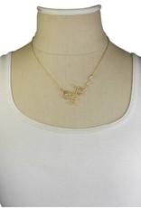 Necklace - Thc Molecule (Gold)