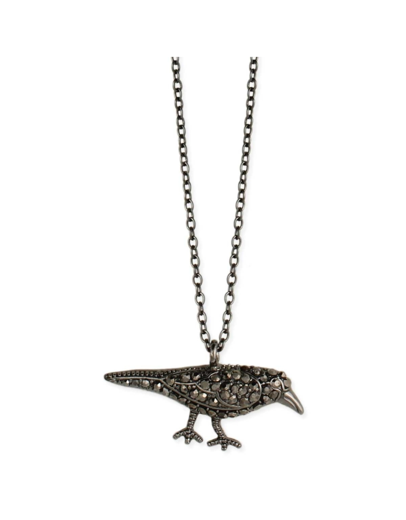 Necklace - Something to Crow About Crystal Raven