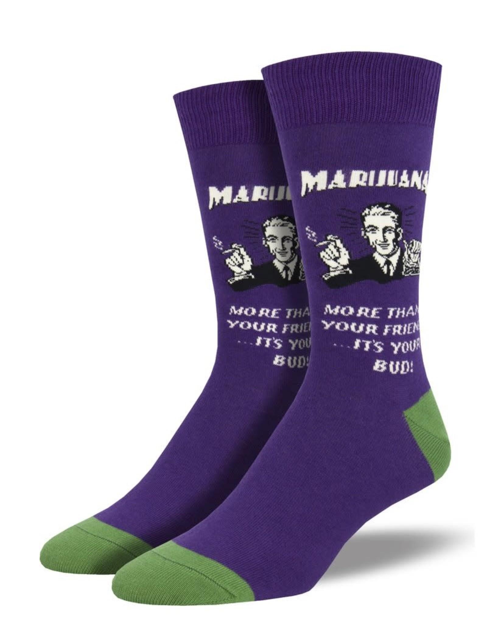 Socks (Mens)  - Marijuana