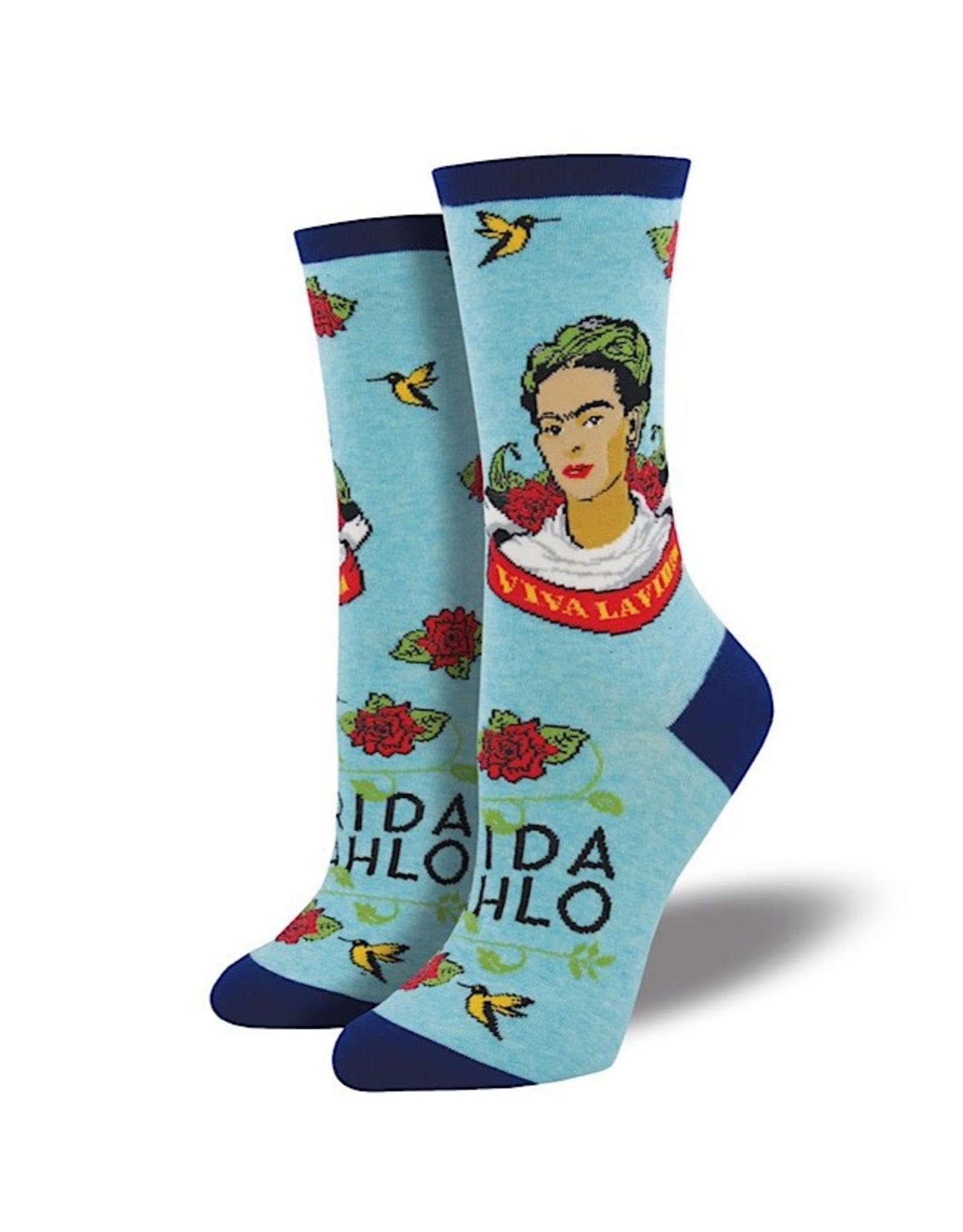 Socks (Womens) - Viva La Frida Sky