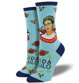 Socks (Womens) - Viva La Frida Sky