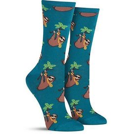 Socks (Womens) - Sloth With Bling