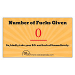 Bad Annie's Business Card (10 Pack) - Zero Fucks Given