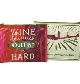 Bag (Zip) - Wine Because Adulting Is Hard