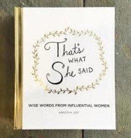 Harper Collins Book - That's What She Said