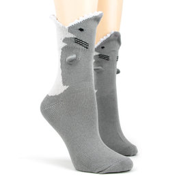 Socks (Womens) - 3D Great White Shark