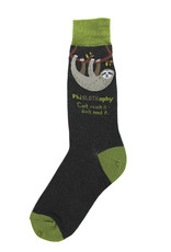 Socks (Mens) - PhiSLOTHophy (Sloth)