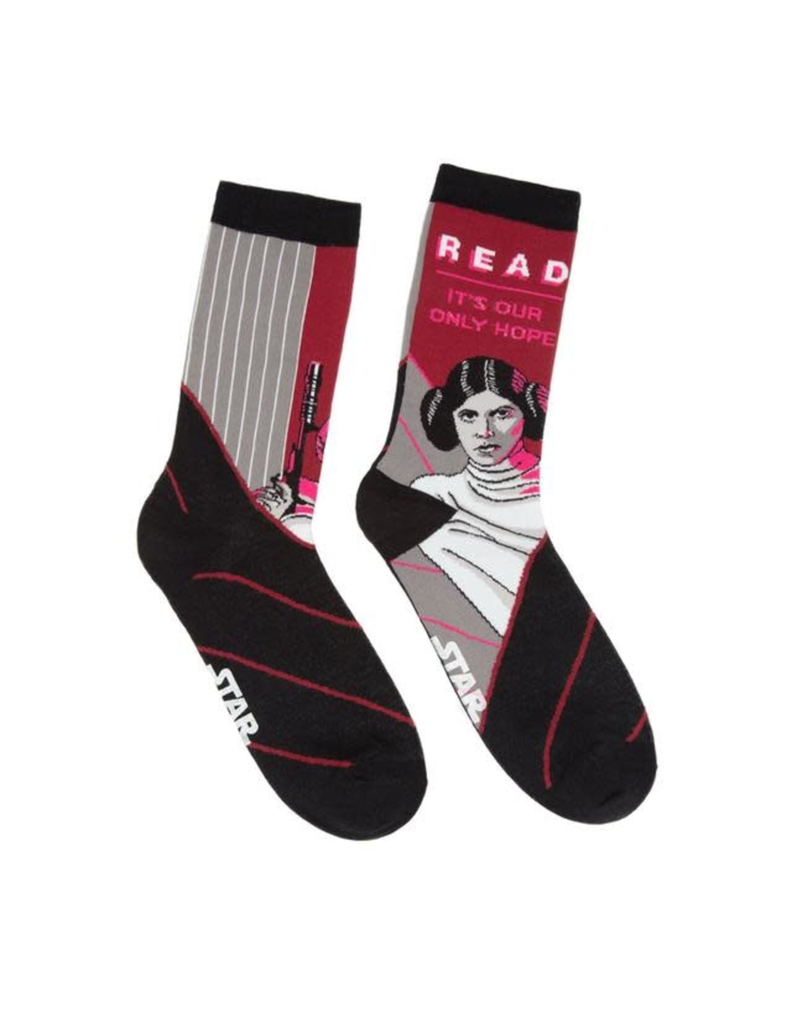Socks (Womens) - Princess Leia (Read, It's Our Only Hope)