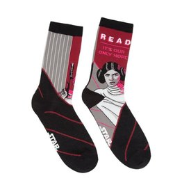 Out Of Print Socks (Womens) - Princess Leia (Read, It's Our Only Hope)
