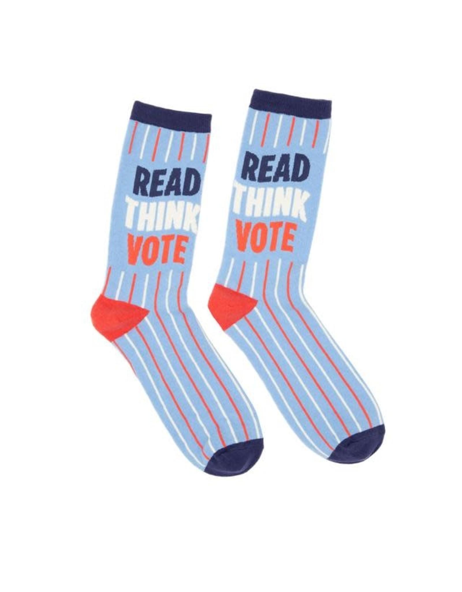 Socks (Unisex) - Read, Think, Vote (Large)